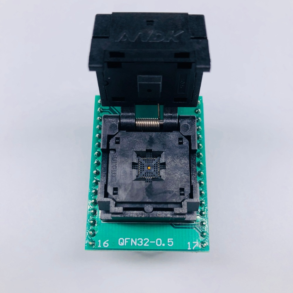 QFN32 MLF32 IC Pitch 0.5 IC550-0324-007-G Test/Programming Socket Clamshell Chip Size 5*5 Flash Adapter SMT Test Socket fshh qfn32 wson32 udfn32 mlf32 ic test socket size 3 2mmx13 2mm pin pitch 1 27mm