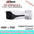 Dahua Ip-камера IPC-HFW5421E-Z Варифокальным Моторизованный Объектив Full HD 4MP Сеть Пуля ИК CCTV Камера с Поддержкой POE DH-IPC-HFW5421E-Z