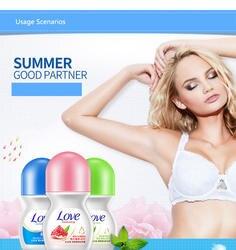 BIOAQUA мяч лосьон для тела Антиперспиранты подмышек дезодорант бутылка с роликом парфюм для женщин для мужчин гладкой сухой духи