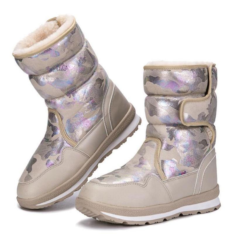 Детские зимние ботинки; коллекция 2019 года; модные водонепроницаемые ботинки для мальчиков и девочек; теплая плюшевая зимняя обувь; Нескользящие Детские ботинки на платформе