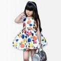 Вырос Цветок Девочки Платья детей платья для девочек летнее платье детской одежды девочка одежда vestidos infantis meninas