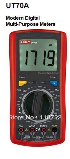 UNI-T UT70A UT-70A LCD Digital Multimeter Volt Amp Ohm Temp Capacitance Inductance 1pcs uni t ut70a lcd digital multimeter volt amp ohm temp capacitance inductance wholesale register shipping
