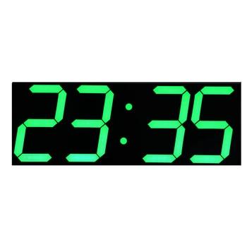 Grüne LED Digits Großen Led-wand-uhr mit Kalender Temperaturanzeige Fernbedienung Countdown Timer Stoppuhr