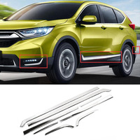 8pcs/set Stainless Steel Car Body Side Door Moulding Cover Trim For Honda CRV 2017 2018 Car Exterior Accessories Stylilng