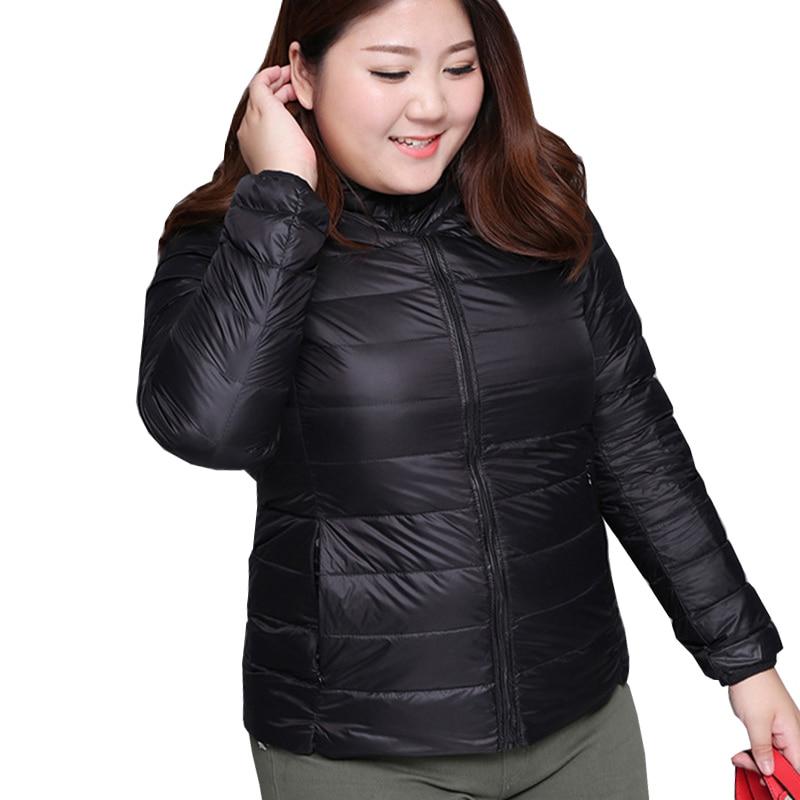 Super big Obese women plus size s-6XL Coat Ultra warm Light Duck Down Jacket Overcoat Jackets Winter Coats Portable