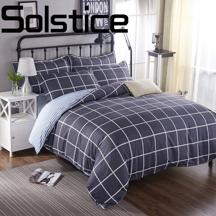 Solstice Pillowcase Quilt-Cover Cotton Bedding Home-Textile Plaid Comfort Classic Aloe
