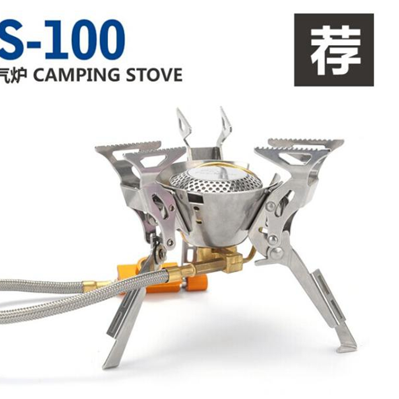 Hot Sale Fire Maple Camping Gas Stove Split Folding Burners Cooking Outdoor Camping Hiking Propane Stove FMS-100 FMP-709 2450W fire maple fmw 503 outdoor portable 5 folding 9 section camping cooking stove windshield silver