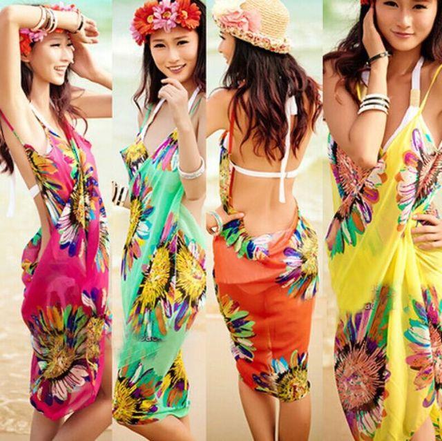 Strand Jurkjes 2018 Swimsuit Cover Up Swimwear Women Robe De Plage Summer Floral Beach Wear Dress Bikini Bathing Suit Cover Ups
