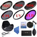 58mm UV CPL FLD+ND2 4 8 Filter Kit Neutral Density Photography Filter SetFor Canon EOS/Rebel 700D 1100D 1200D 600D 400D T3i T2i