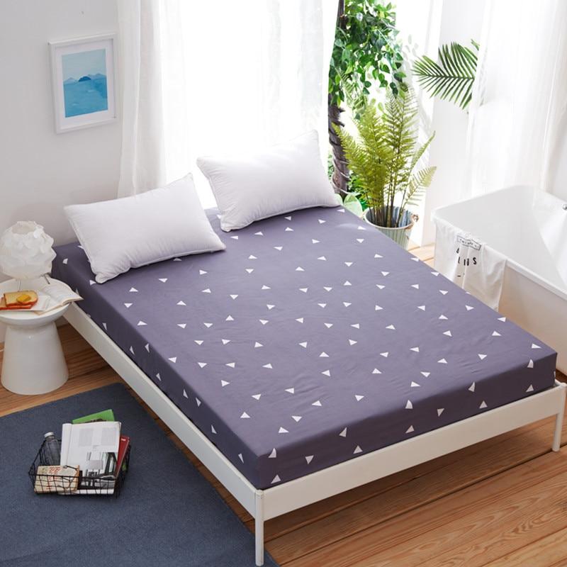 1 Stks Nieuwe Printing Bed Matrashoes Protector Pad Hoeslaken Water Beddengoed Met Elastische Platte Hoeslaken 100% Polyester