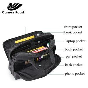 Image 5 - Waterproof Oxford 14 15.6 inch Laptop Briefcase Business Men Handbag Casual Shoulder Bag for Men Fashion Messenger Bag Fashion