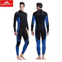 Sbart 3mm neopren wetsuit erkekler sörf dalış takım tam vücut dalış erkekler için yüzme ekipmanları spearfishing wetsuits tulum j