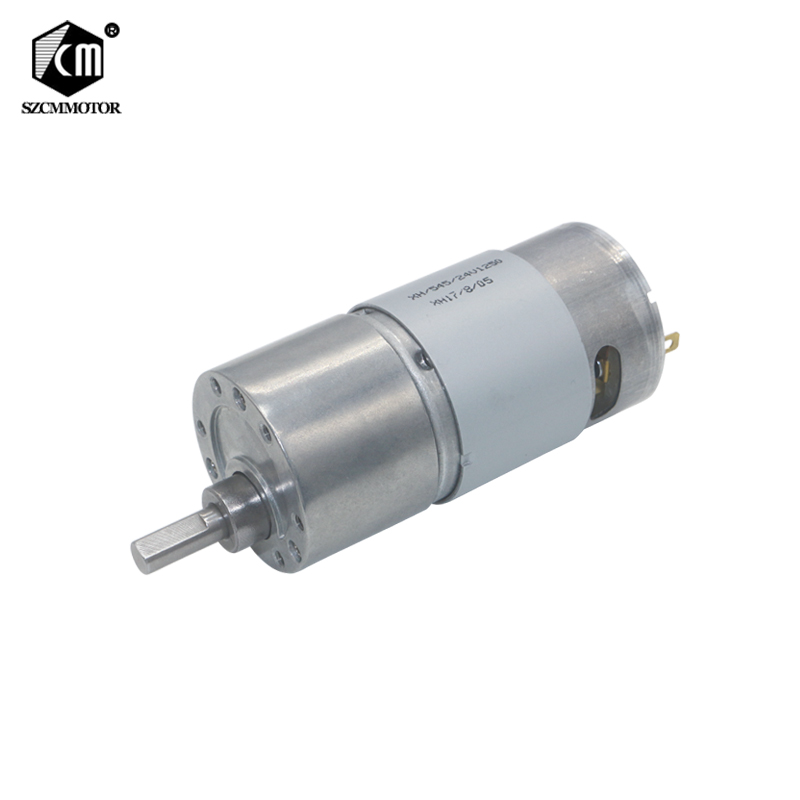 24VDC 7-960RPM High Torque Gear Reduction All Metal Low Noise Gear Motor JGB37-545 цена
