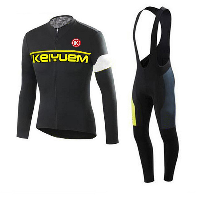 Keiyuem K Pro Long Sleeve Cycling Jersey Sets Breathable 3d Padded