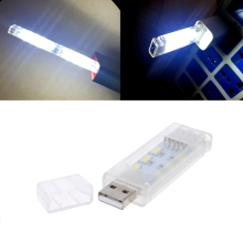 Mini USB Gadget Led Night Light Camping Lamp Double Sided 12 USB Led Reading Light