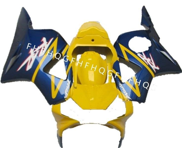 L36-Fairing kit pour Honda moulage par Injection CBR954RR 02 03 954 Jaune bleu carrosserie carénages CBR900RR CBR954 2002 2003