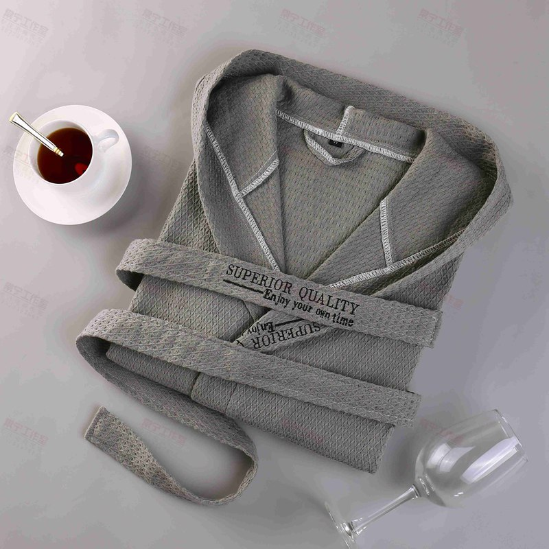 Men Bath Robes Hooded Cotton Long Soft Pajamas Plus Size XXL Sleepwear Lounges Hooded Robe Femme Dressing Gown Robe White