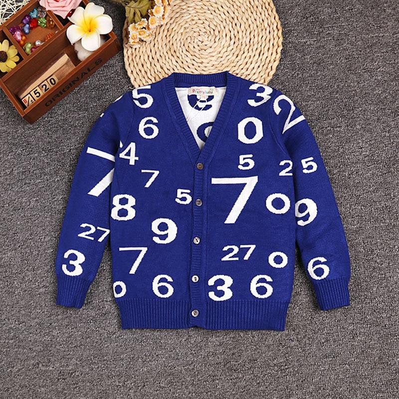 Image 5 - Boy V neck Sweaters Fashion Children s V collar Cotton Knitting Cardigans Teenage Boys Autumn Double Warm Sweater for Boyssweater for boyssweater 2016winter sweater for boys -