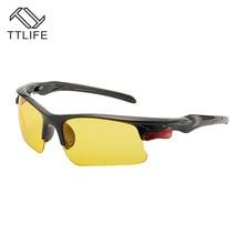 цена на TTLIFE Polarized Sunglasses Men Night Vision Driving Sports Sun Glasses Women Vacation Luxury Brand Design Gafas De Sol YJHH0183