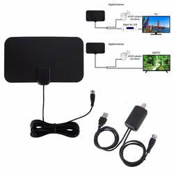 10 дБ 250*160*23 мм ТВ антенна 1080 P F мужчина 174 ~ 240 мГц и 470 ~ 862 мГц черный (антенны + адаптер + руководство + подсветкой усилитель)