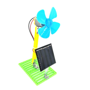 Solar Powered Electric Fans DIY  1