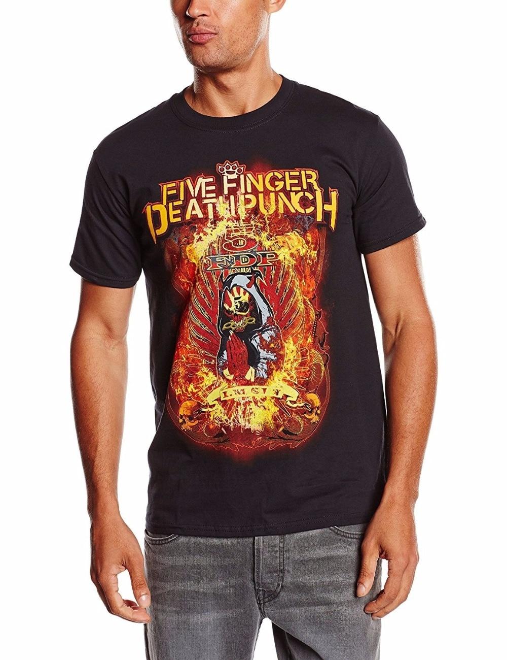 Cheap Men T-Shirt Fashion Shirt Five Finger Death Punch Mens Burn In Sin Short Sleeve T-Shirt
