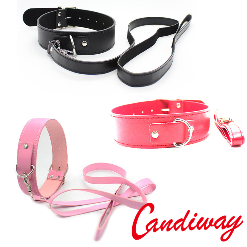 BDSM Sexy ring <font><b>Collar</b></font> Bondage chain Restraint Slave Adult Game Neck Ring harness <font><b>Dog</b></font> Ring For Women Flirting necklace <font><b>Sex</b></font> Toys image