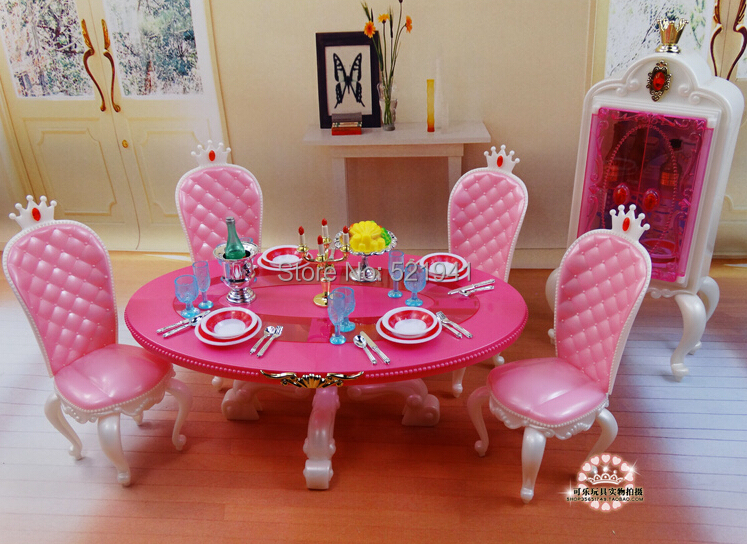 Free Transport pink desk chairs gradevin doll equipment doll furnishings for barbie doll,women DIY toys