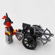 SMALL BALLISTRA Castle knight set Building Block Set 3D Construction Brick Toys Educational Block toy kit for Children