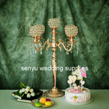 New style H65cm tall Tall Gold Candle Holder 5-arms Candlestick Wedding Candelabra Hotel Home wedding party Decoration senyu0408