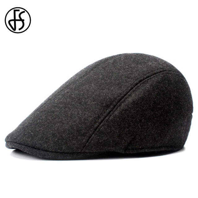 FS hombres negro Vintage Boina mujer Boina plana de 2018 de poliéster de  algodón Boina sombrero 70015fd0206