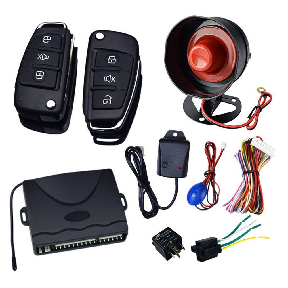 1Set Universal Car Security Alarm System Anti-theft with Remote Controller 12V XR657