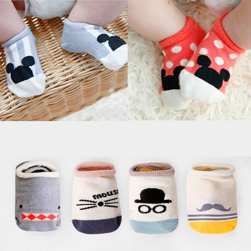 2018 New Hot sale Cotton Cute Boys Girls Baby Socks Fashion Cartoon Soft Floor Baby Sock