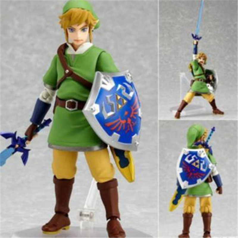 [PCMOS] The Legend of Zelda Skyward Sword Link 15cm Figma #153 Action PVC Figure No Box Model Toy Collection 5658-L  nendoroid the legend of zelda link majora s mask 3d figure with original box