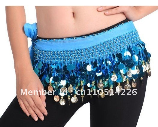 BELLY DANCE SEQUINS HIP SCARF (88 COINS )