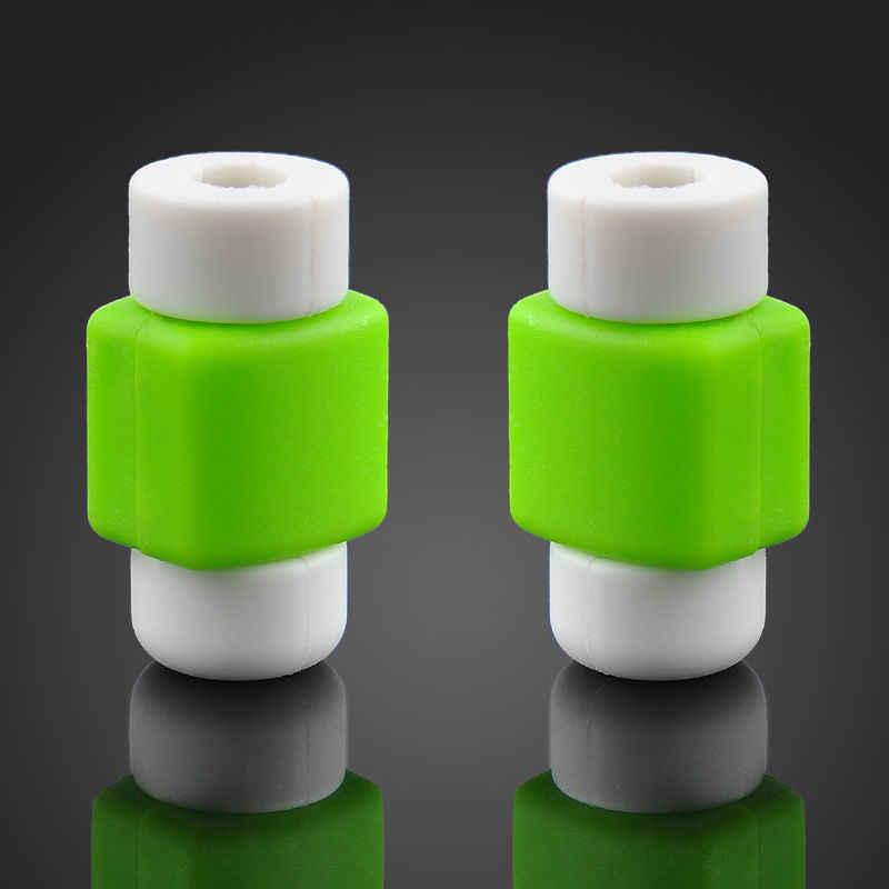 1 piezas de Protector de Cable de cargador Compatible para Apple iPhone X 7 8 6 6S 5 5 5S Macbook carga accesorios de teléfono de ahorro de Cable