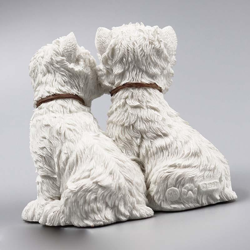 Mnotht 1/6 West Highland Lovers Dog Dog Model Resin Resin Anmial Dog - Խաղային արձանիկներ - Լուսանկար 3