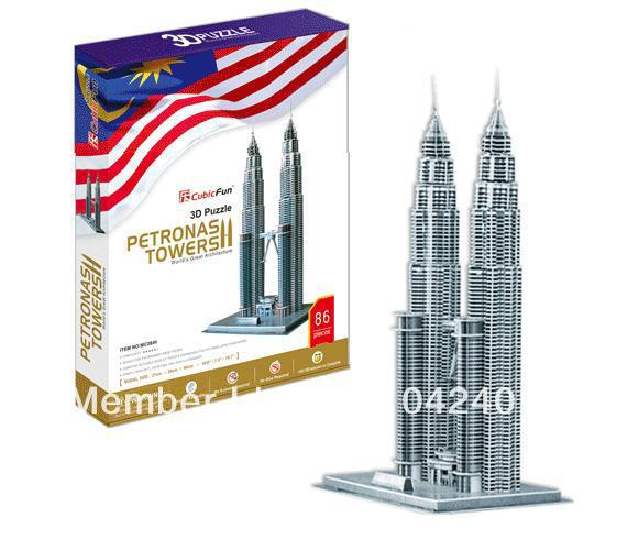 Petronas Towers CubicFun 3D educational puzzle Paper & EPS Model Papercraft Home Adornment for christmas birthday gift wat phra kaew cubicfun 3d educational puzzle paper