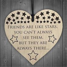 Друзья как звезды деревянные в форме сердца поделки Рождественский