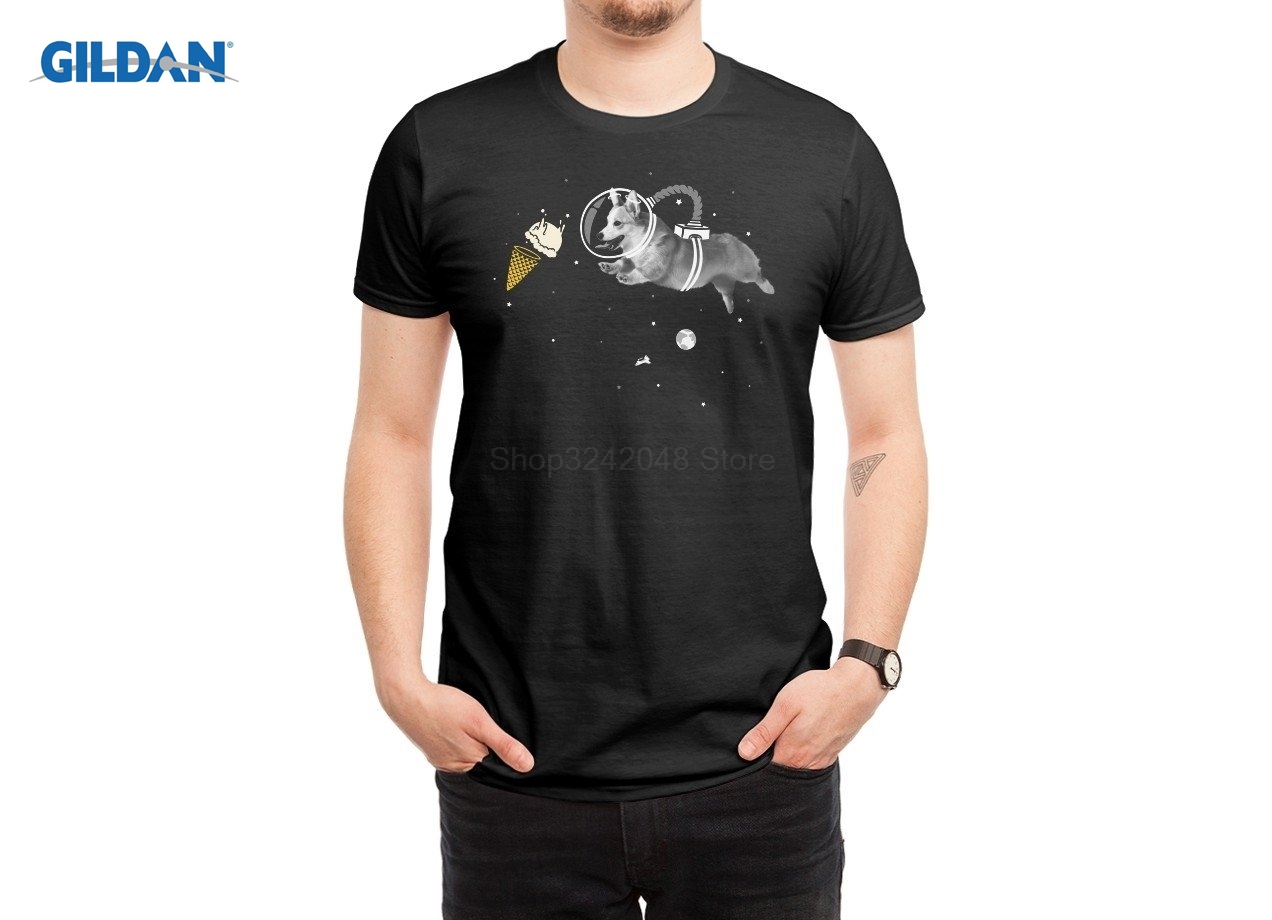 Industrious Corgi-naut T-shirt 2019 New Summer Style Streetwear Cotton Mens Short Sleeve Creative T-shirt Tees Fine Quality Tops & Tees T-shirts