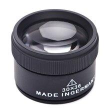 30X36 мм HD увеличительное Стекло оптический Стекло линза лупа мини Карманная Лупа Ручной монета марки ювелирные изделия оборудование для ремонта часов и ювелирных изделий с