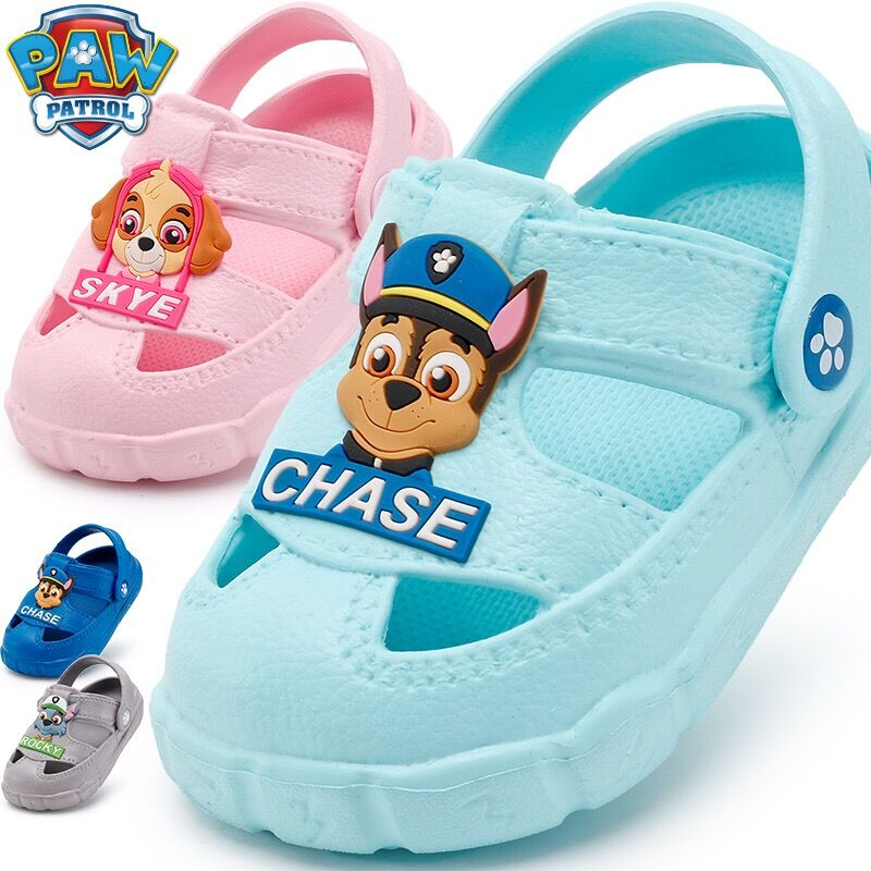 2019 Genuine Paw Patrol Children's Shoes Baby Slippers Summer Cartoon Indoor Anti-skid Boys Girls Chase Skye Plush Doll Toy
