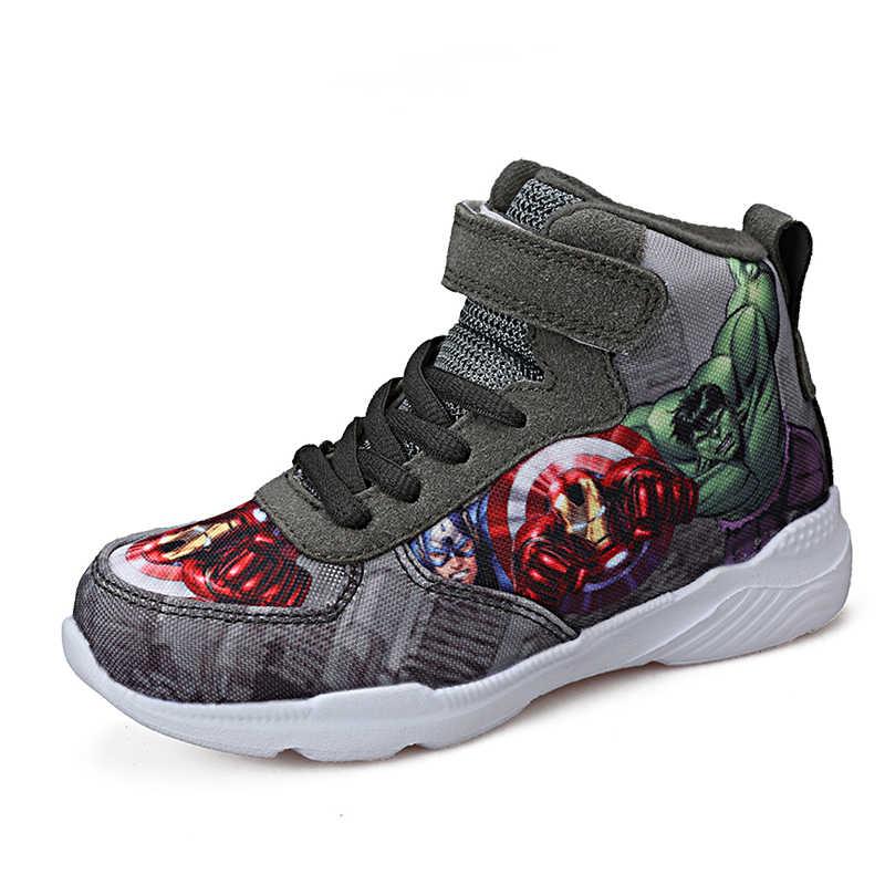 子供漫画スパイダーマン男子バスケットボール靴アベンジャーズベビーカジュアルスポーツランニング子供靴ガールブーツ