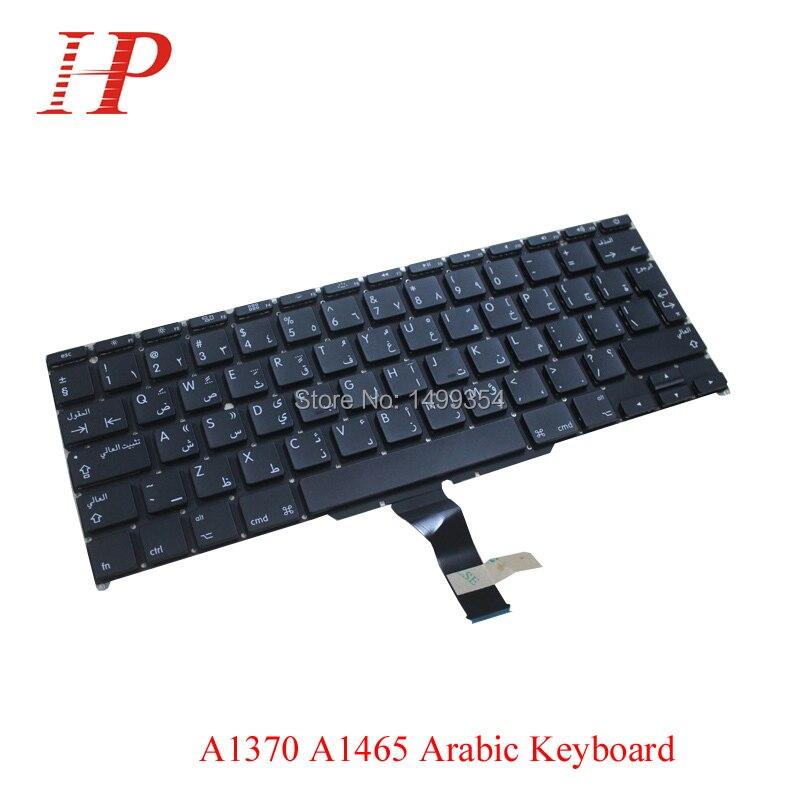 New A1370 A1465 Arabic AR Keyboard For Apple Macbook Air 11 A1465 A1370 Keyboard Arabic Standard Replacement 2011-2015
