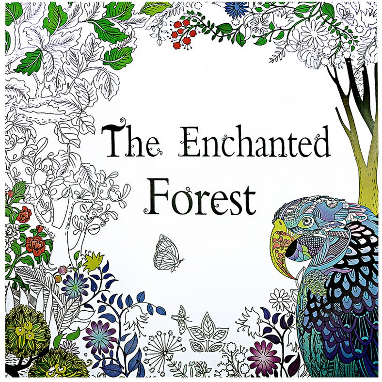 The Enchanted Forest Cute Animals Coloring Sketch Book For Kids And Adults