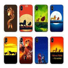 The Lion King Printed Scenery Phone Shell for iPhone 8 7 6 6S Plus X XS XR XSmax 7plus 8plus Cover