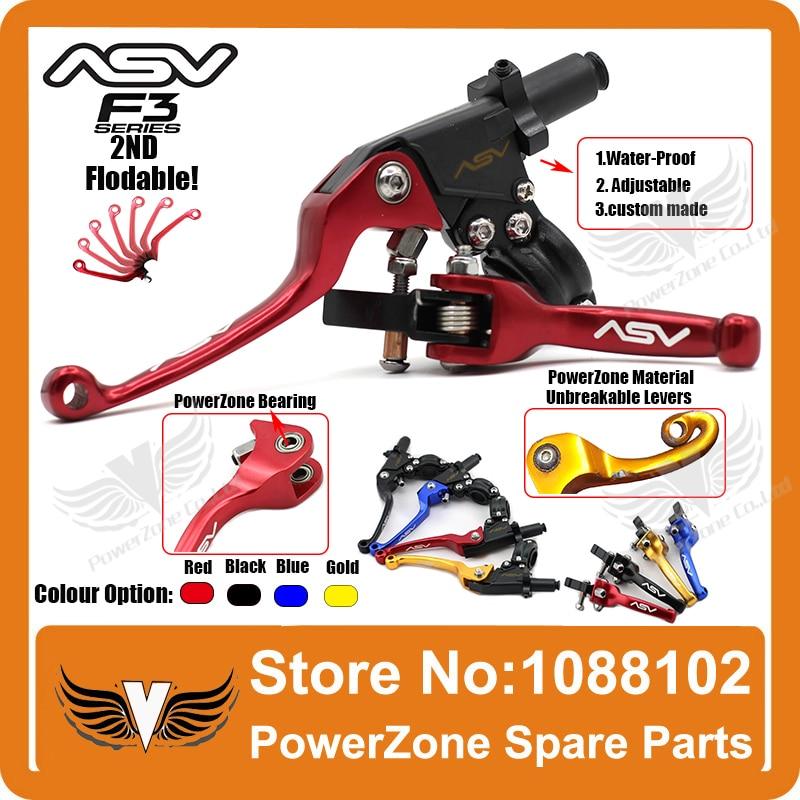 ASV Unbreakable F3 Red Adjustable Folding Clutch Lever Honda Suzuki Kawasaki