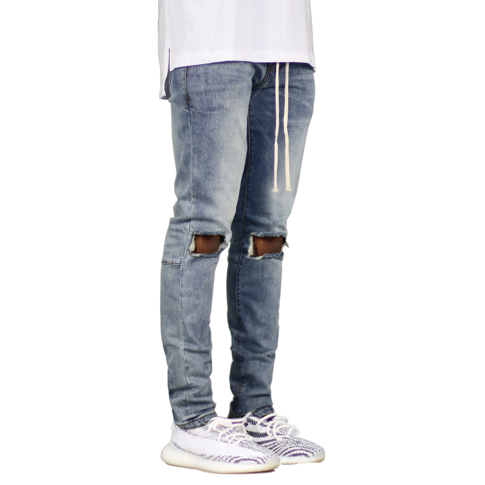 Men   Jeans   Stretch Destroyed Ripped Design Skinny   Jeans   E5023
