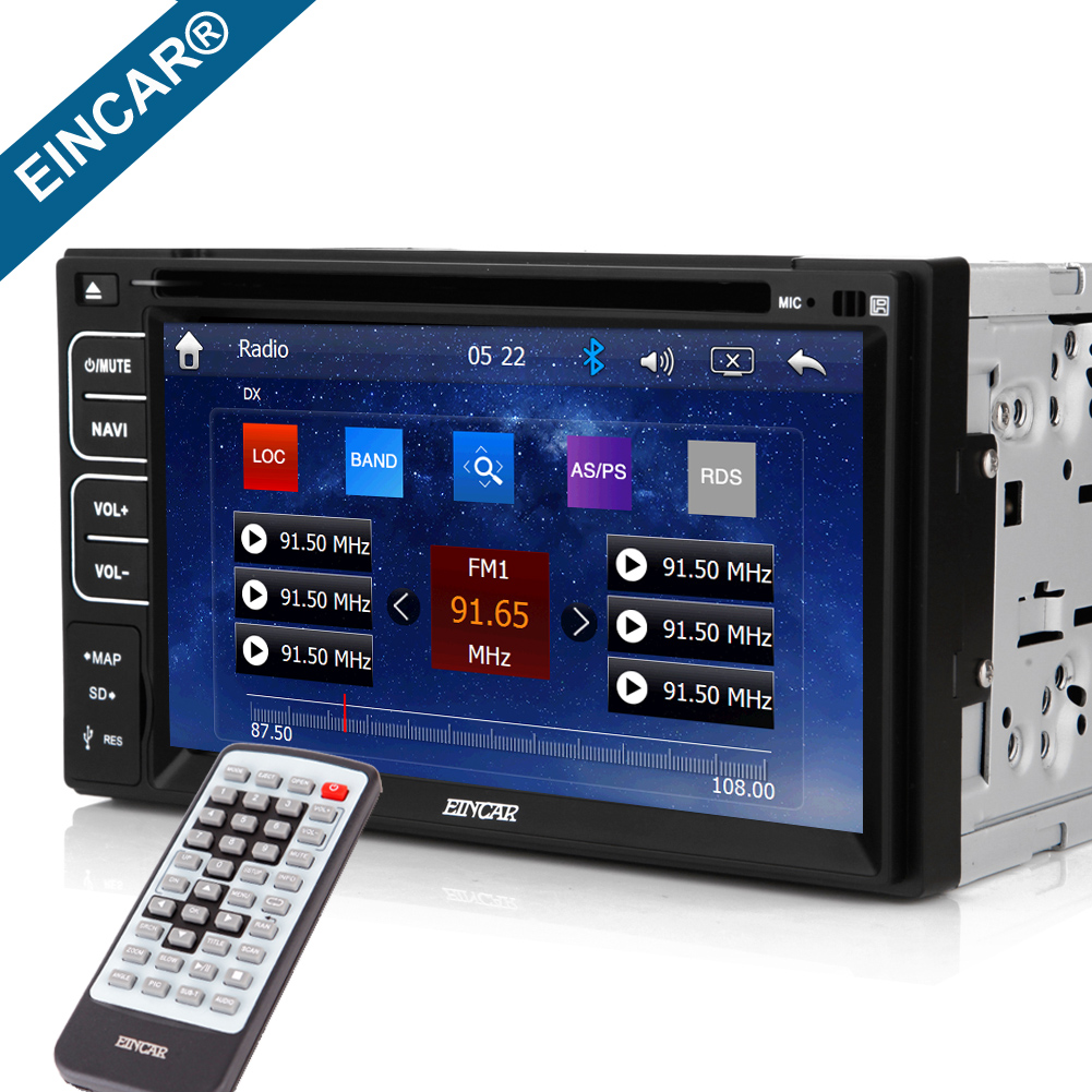 In Dash Auto Stereo HD Video GPS Navigation Car Radio Bluetooth DVD Player <font><b>Touchscreen</b></font> Autoradio Remote Conyrol For Double Din image