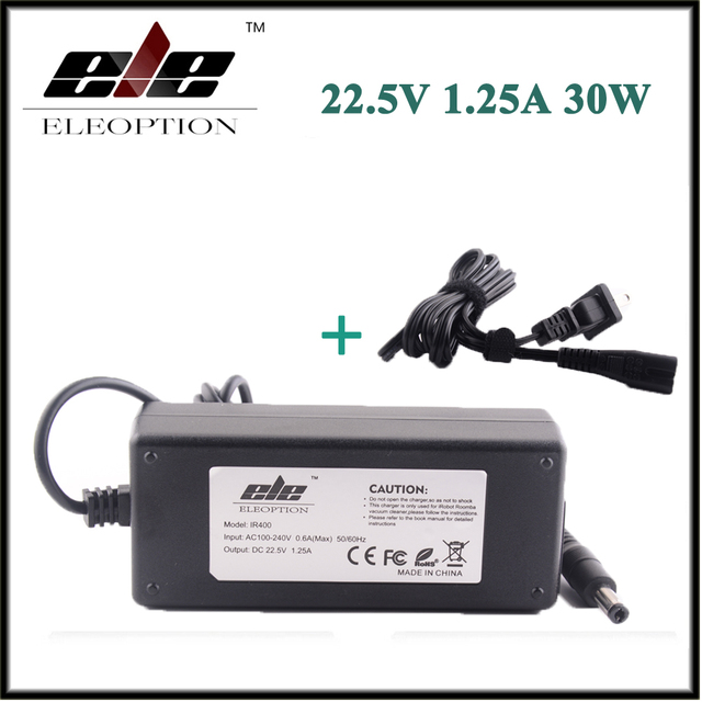 Eleoption novo 22.5 v 1.25a 30 w adaptador de alimentação carregador para irobot roomba 400 Série 500 600 700 532 535 540 550 560 562 570 580